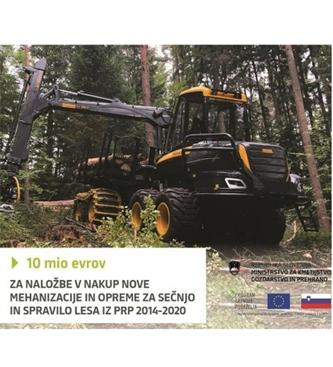 Razpis za nakup nove mehanizacije in opreme za sečnjo in spravilo lesa